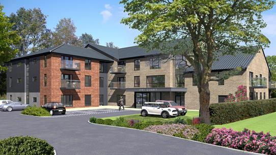 Fry Court, Great Ayton Main Entrance CGI