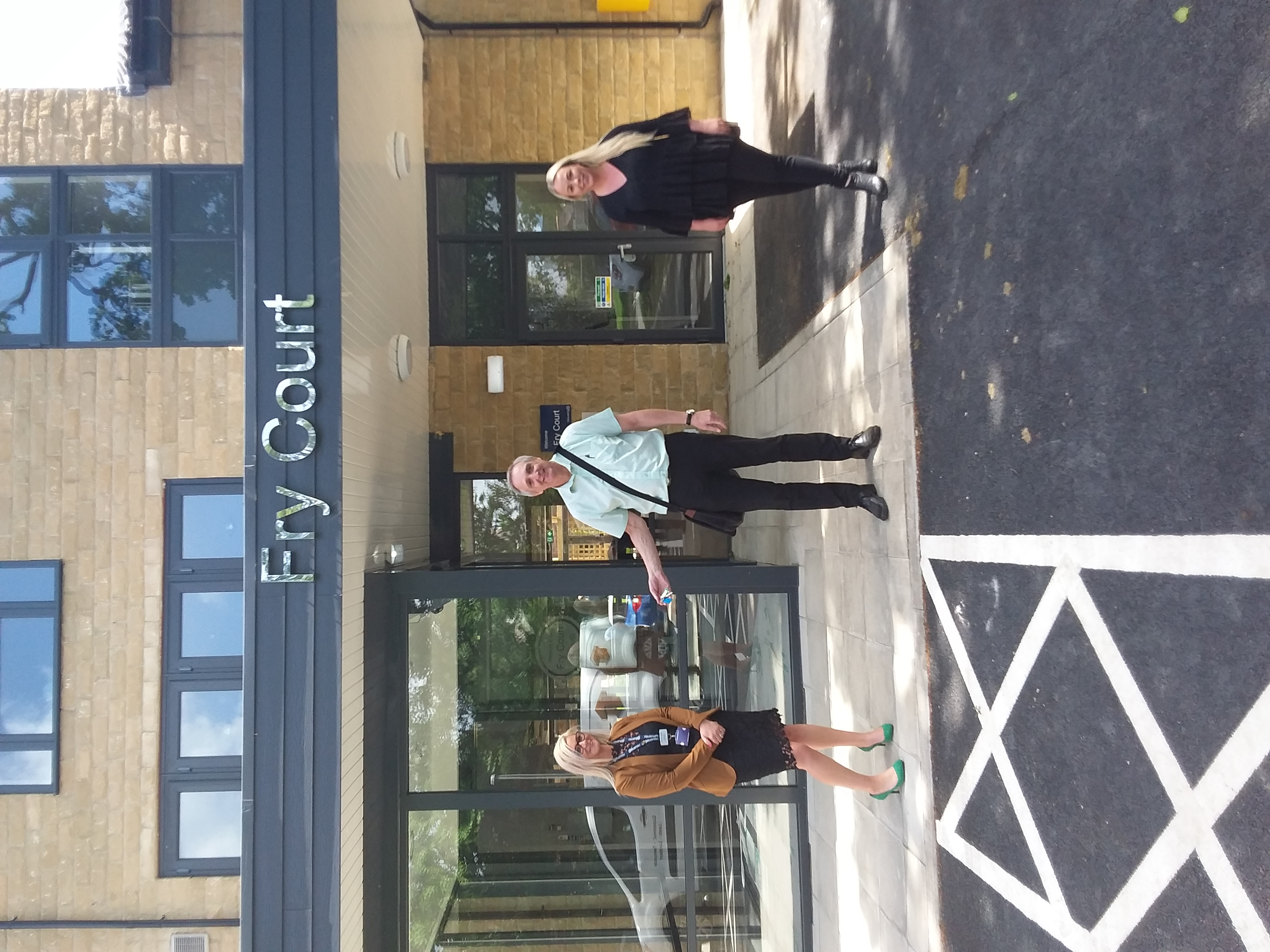 Keys are handed over to staff at fry court